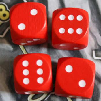 Beispiel 2: Die Kombination 2+2=4, 2+6=8 und 6+6=12 sind möglich.