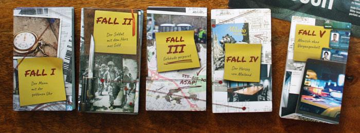 Die 5 Fälle der ersten Detective-Kampagne.