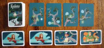 Spielaufbau inklusive Jahreszeitenkarten.