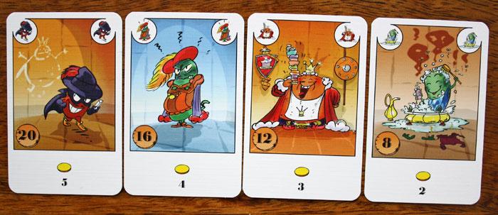 Die Bohnenkarten der Einsteiger-Variante