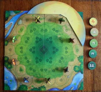Das vorbereitete Spielfeld von Photosynthese.