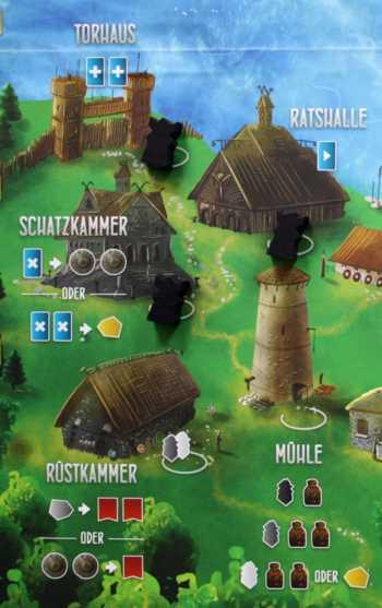 Im Dorf wird gearbeitet.