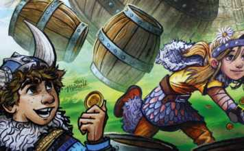 Tal der Wikinger Kinderspiel von Haba.