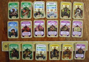Die Kartenauslage im Markt.